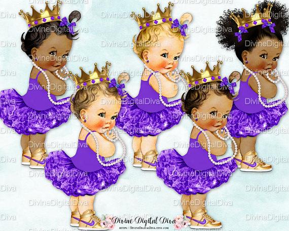 48e70e9b2b1e0 Princess Ballerina Purple Tutu Sneakers Gold Crown Pearl Necklace ...