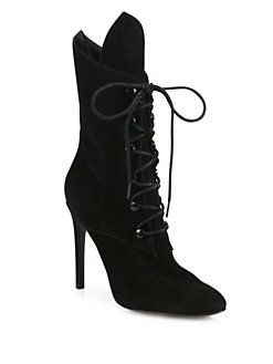 e902120f5b KENDALL + KYLIE - Maya Suede Lace-Up Booties | Ankle boots and shoes ...