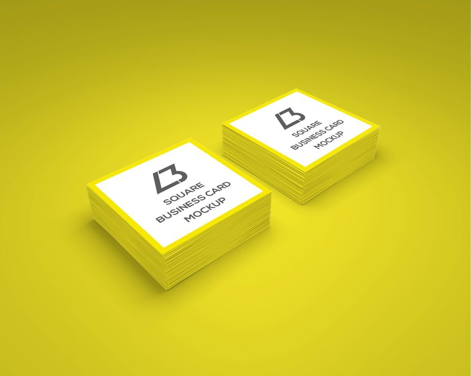 Square Business Card Free Mockup Business Card Mock Up Free Business Card Mockup Free Business Card Templates