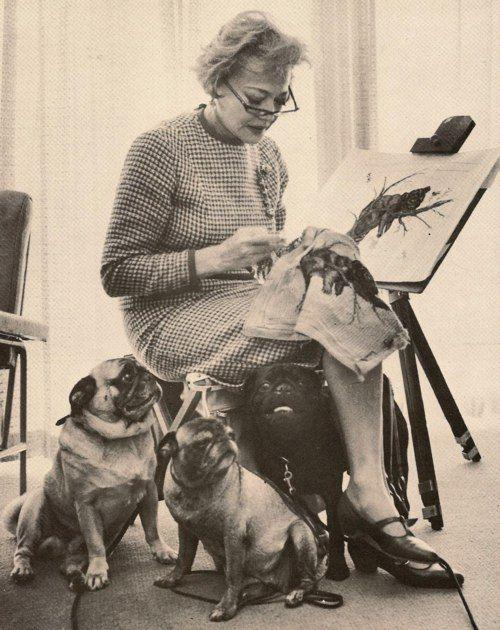 Pugs And Sylvia Sidney Love The Illustration Pugs Cute Pugs