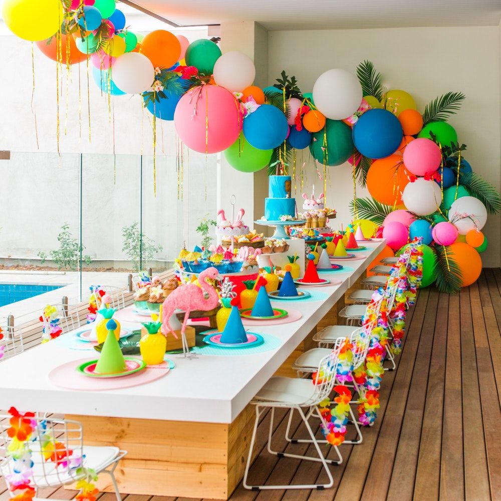 Birthday Party Decor Appealing Balloon Decor Party Table Chair Ideas For Toddler 1st Birthday Party Hawaiian Birthday Party Party Balloons Moana Birthday Party