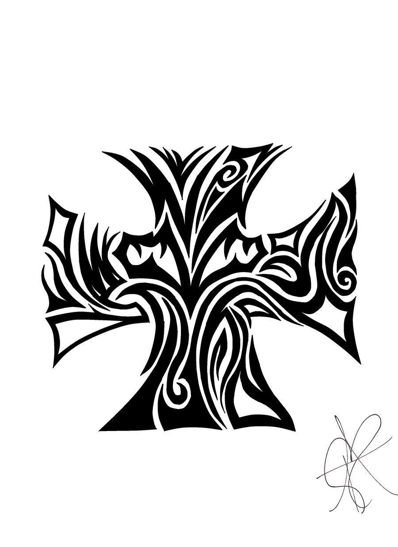 Celtic style iron cross. Hmmm... Hair tattoos, Celtic
