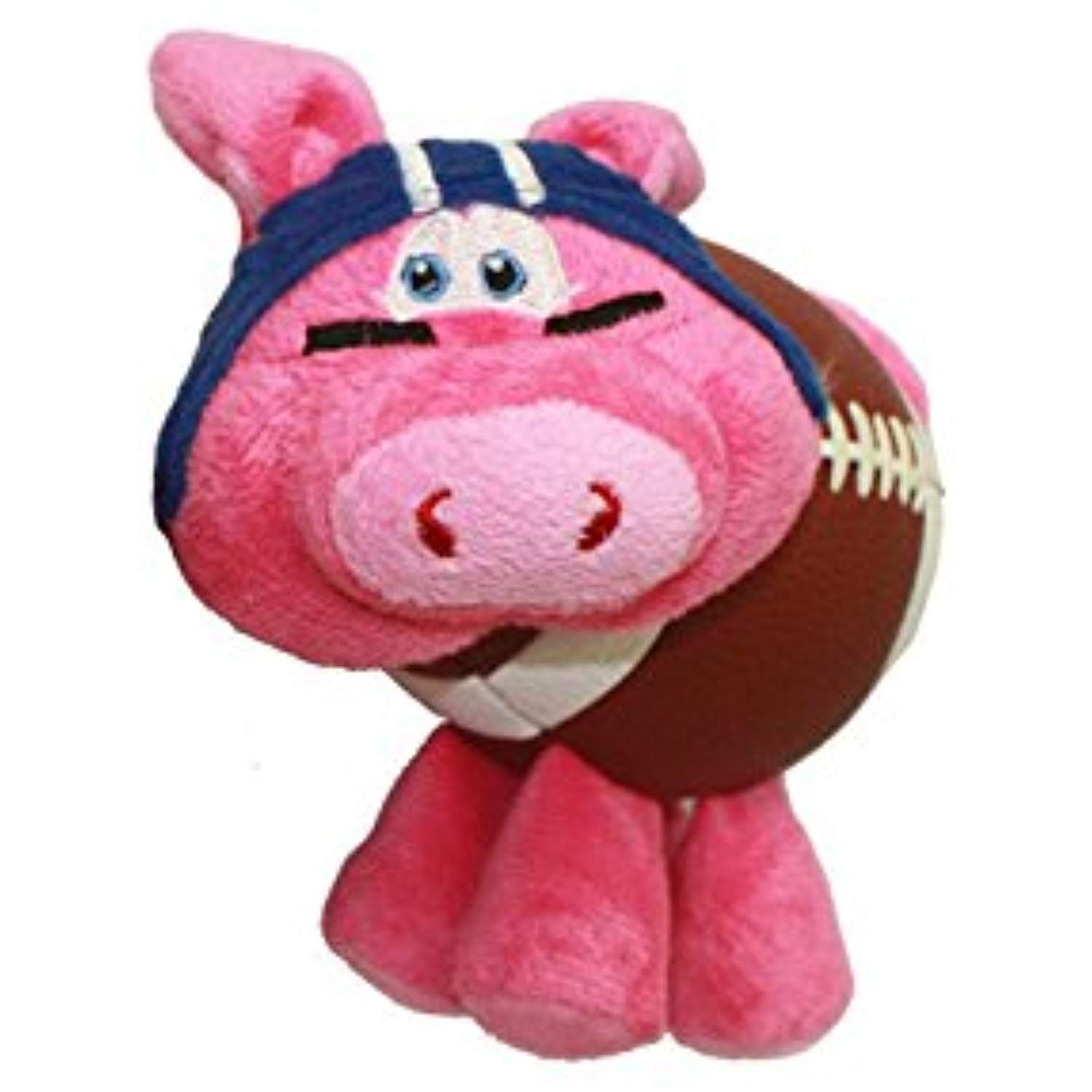 Multipet Pig Skins Plush Football Dog Toy 8 Colors Vary Check