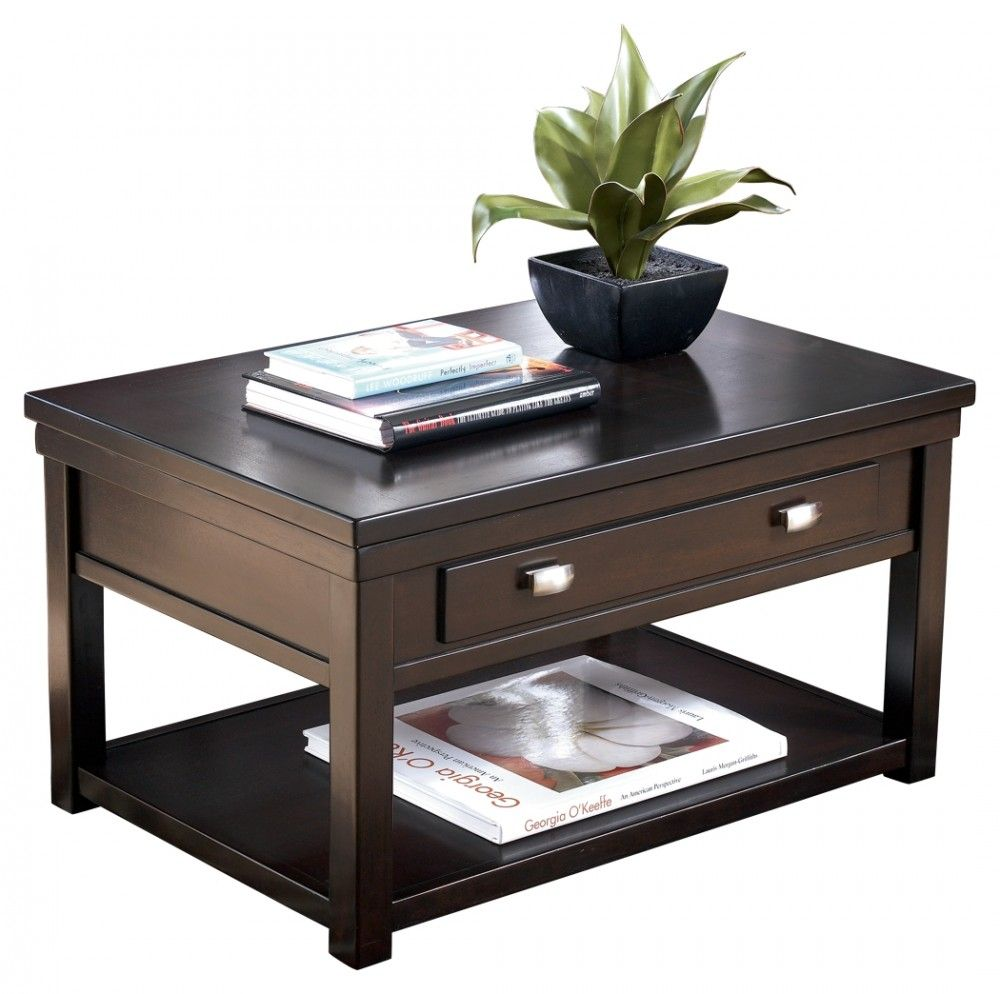 Hatsuko Lift Top Cocktail Table Coffee Table Brown Coffee Table Ashley Furniture [ 994 x 1000 Pixel ]
