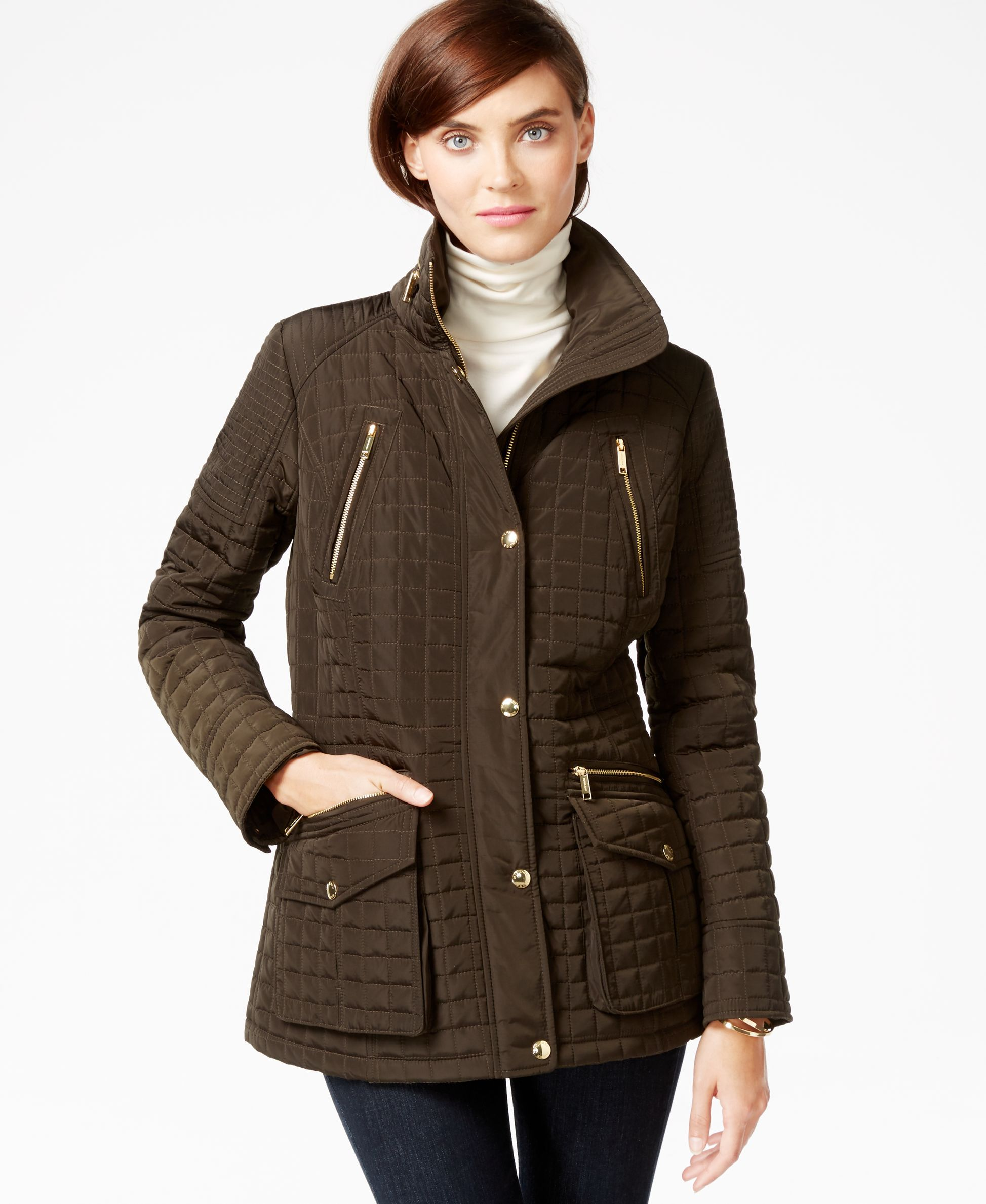 Michael Michael Kors Hooded Quilted Coat