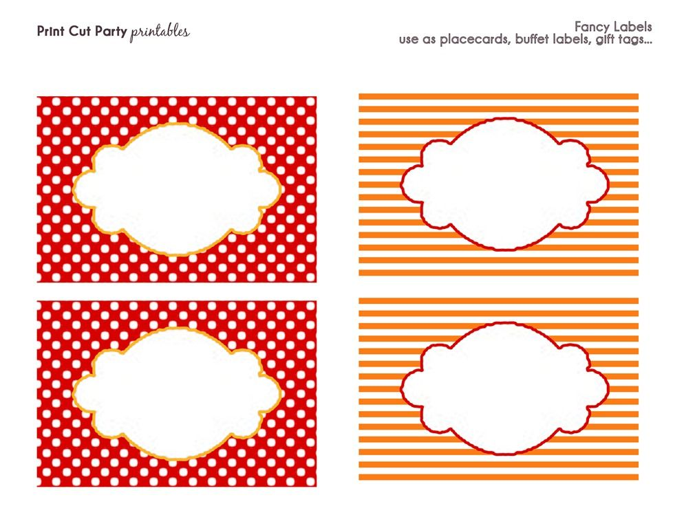 Printable Circus Templates party printables Frosted Events - sale tag template