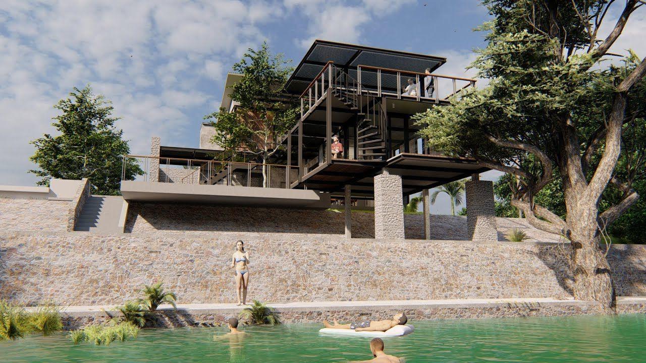 แบบบ านสวย Ep133 แบบบ านร บรองร มน ำม ดาดฟ า Two Story House บ านท สวยงาม ร ปแบบบ าน บ าน