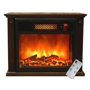 SUNHEAT 25 in. 1500 Watt Infrared Electric Portable Fireplace with Remote Control - Espresso-TW-15FP Espresso at The Home Depot #espressoathome