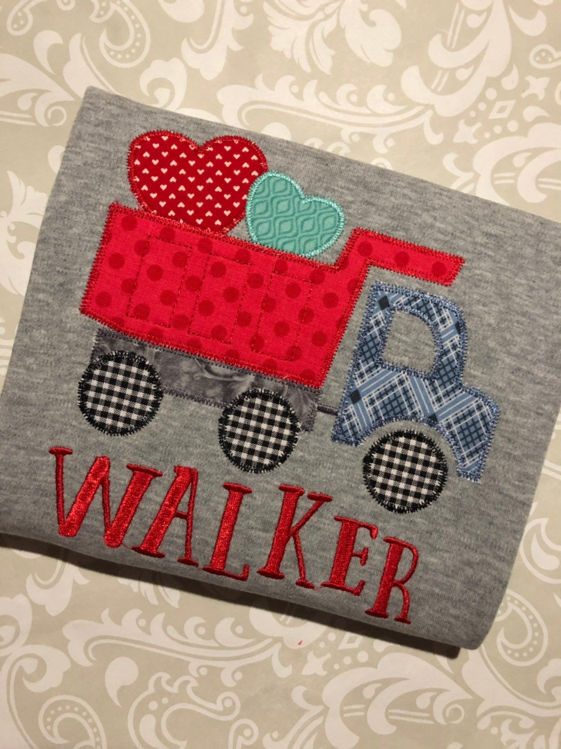 Dump Truck Valentine Tee Monogram Valentine Shirt For Boys Etsy Valentines For Boys Handmade Business Valentines Shirt