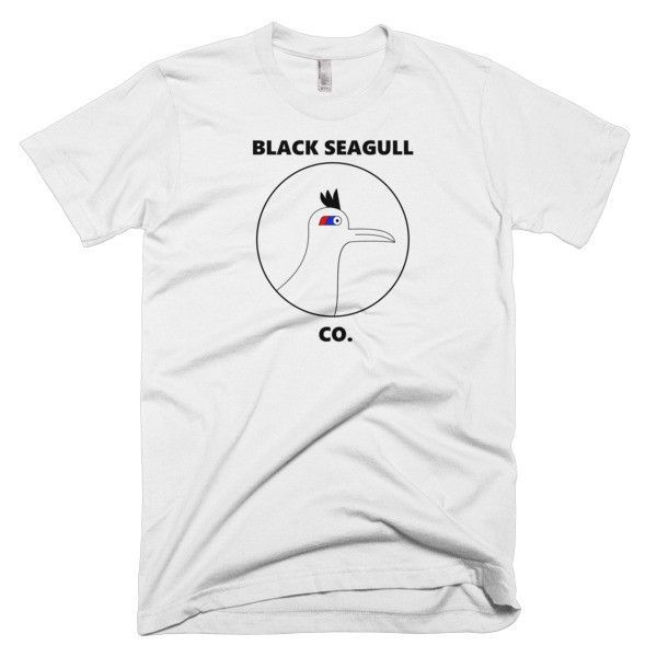 Men's Black Seagull Co. vintage t-shirt