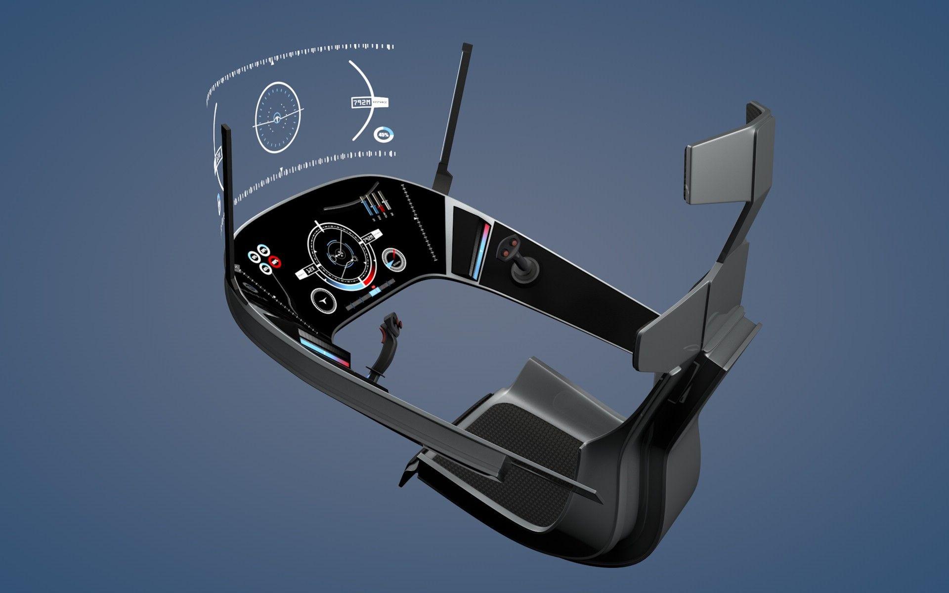 3d Model Spaceship Cockpit Cockpit Concept Design Space Flight