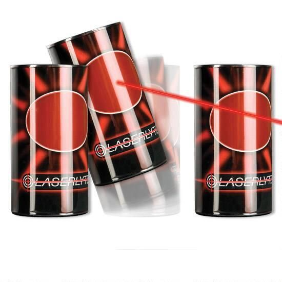 The LaserLyte Trainer Target Plinking Tip Over Reactive Cans