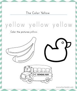 Color Yellow Worksheet Color Worksheets For Preschool Color Worksheets Free Preschool Worksheets