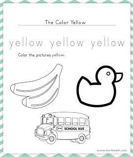 Lawteedah Color Of The Week Yellow Tot School Color Of The Week Preschool Colors
