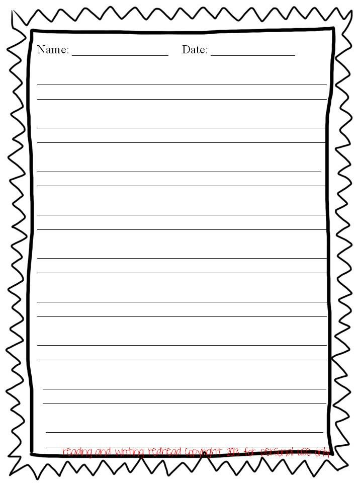 free writing paper with borders - Google Search Other Writing - free lined handwriting paper