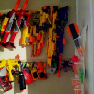 nerf storage gun storage wall diy nerf gun storage ideas