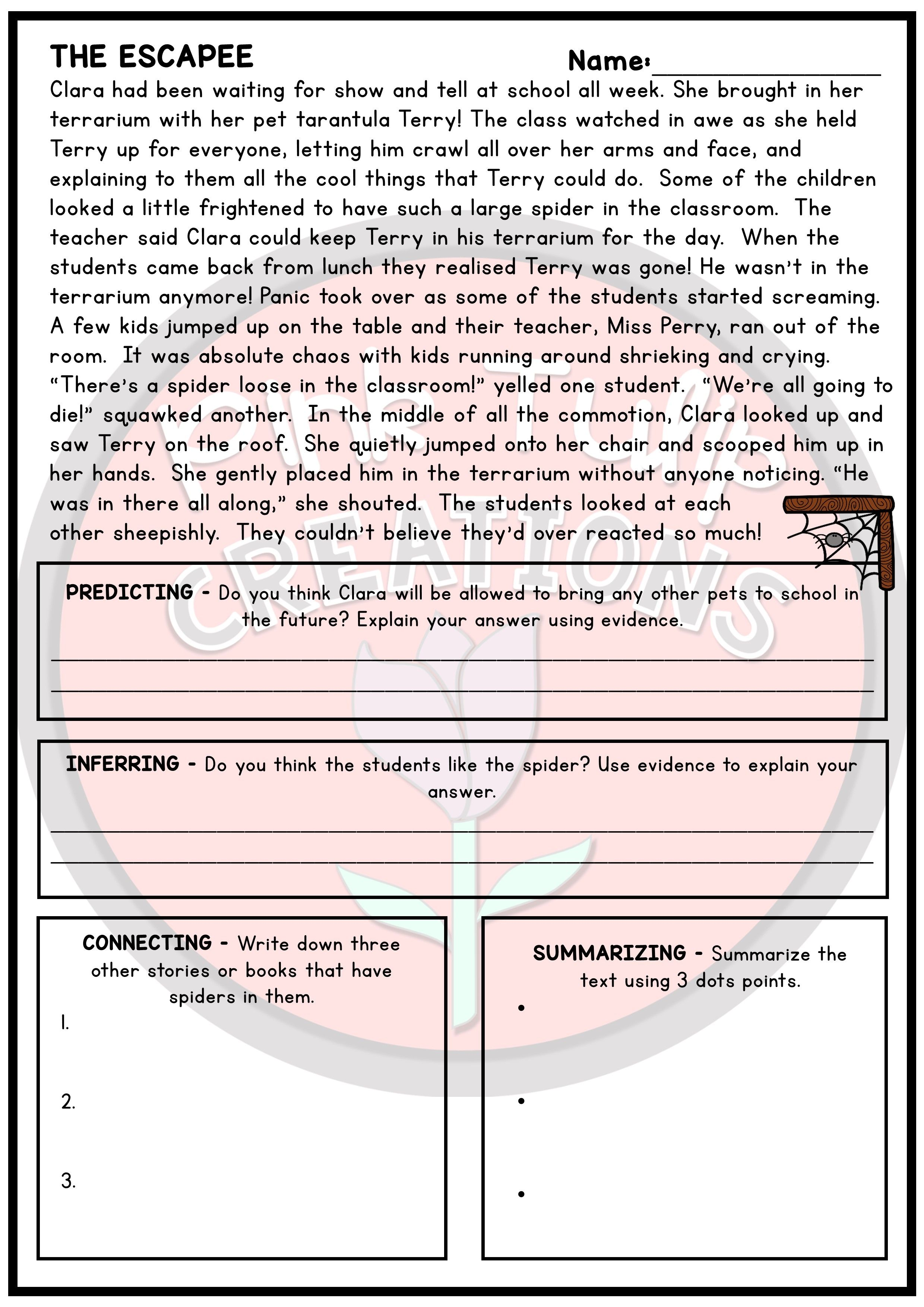 30 Page Reading Strategy Comprehension Pack