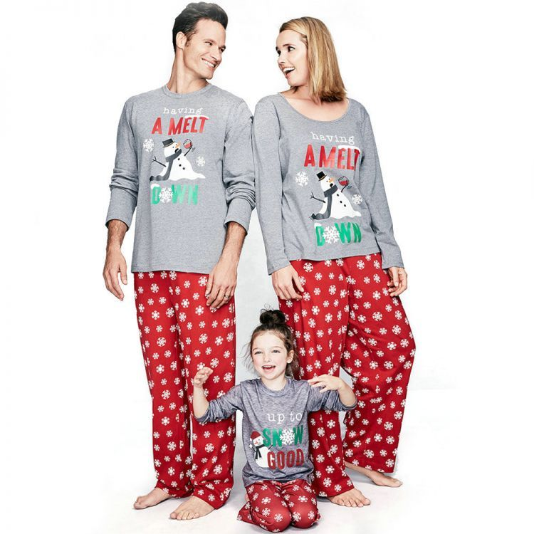 522993fea628 Buy Christmas Family Matching Pajamas Snowman Printed Sleepwear Outfits  from us