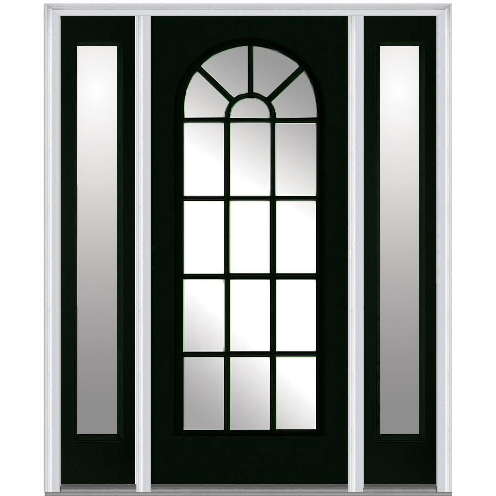 Milliken Millwork 64 5 In X In Classic Clear Glass Round Top Full Lite Painted Majestic