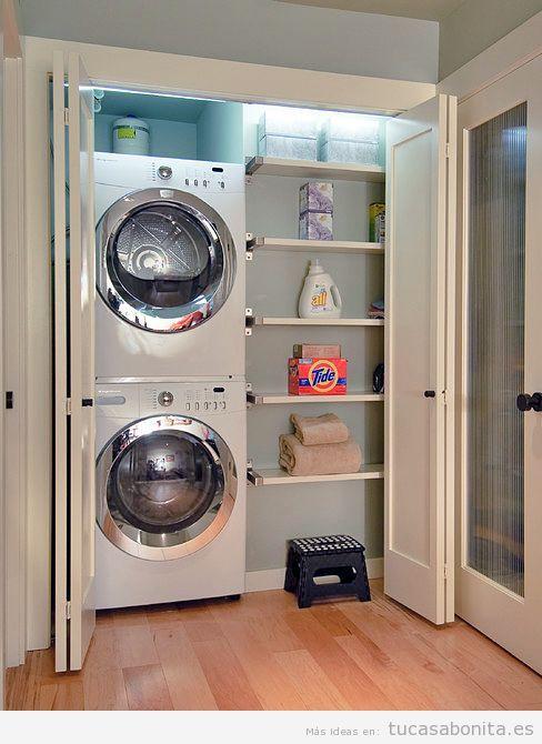 Ideas para decorar y organizar lavaderos peque os 9 - Armarios para lavaderos ...