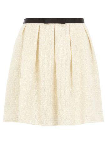 ivory boucle skirt