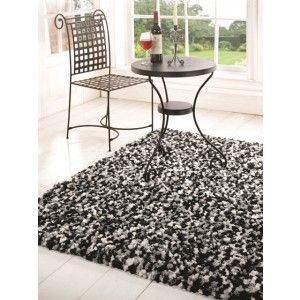 Black And Grey Shaggy Rugs This Rug Is