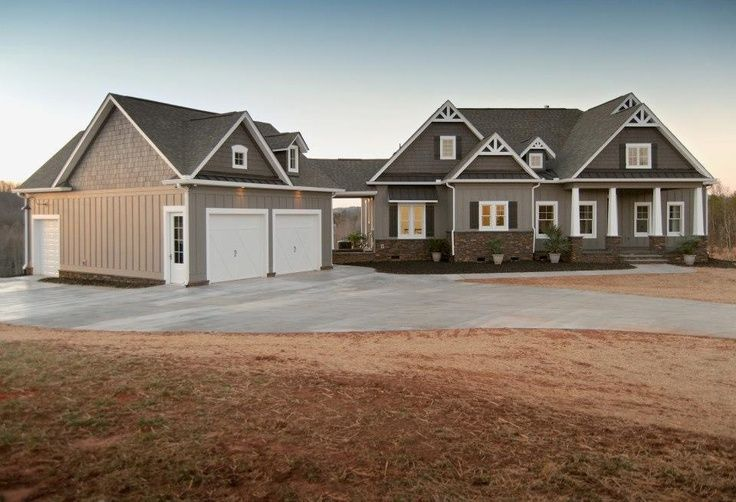 Detached garage with breezeway dream home pinterest for Farmhouse plans with detached garage