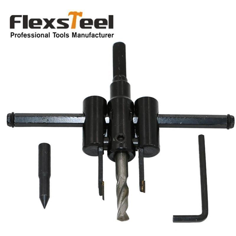 Flexsteel Adjustable Circle Cutter Drill Bit Kit Metal Wood Twist Hole Diy Woodworking Tools 30 120mm Awesometaylormadegolfc Diy Woodworking Tools Woodworking