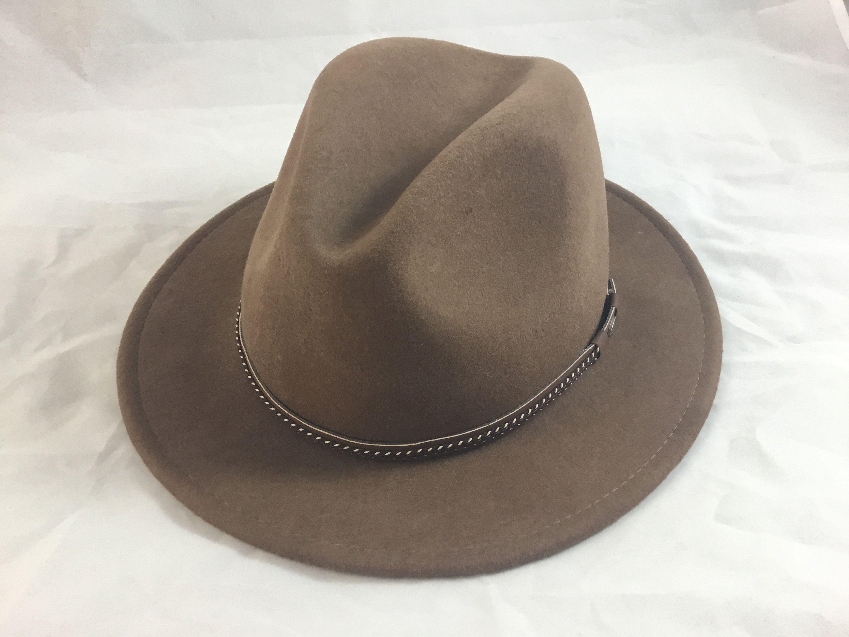 09f4cc0a9b8 Scala Classico Men s Four Seasons Brown Wool Felt Crushable Safari Hat  Medium Dorfman Pacific by TheTimeTravelingPug on Etsy