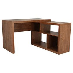 Seattle Corner Desk Walnut Effect Home Decor Corner