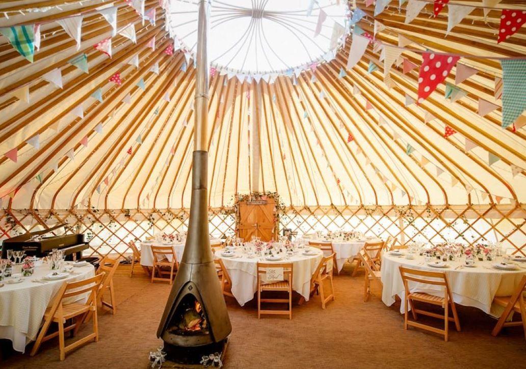 Camp katur kirklington bedale north yorkshire uk england open yurt for education room love the bunting decor junglespirit Choice Image
