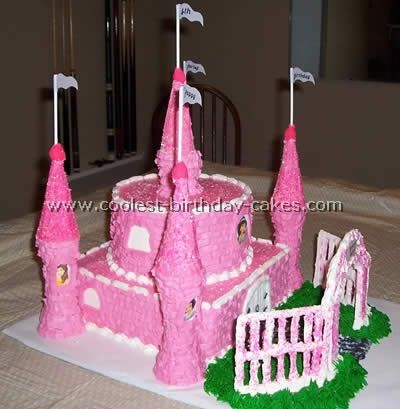 Coolest Disney Castle Cake Photos Disney castle cake Cake photos