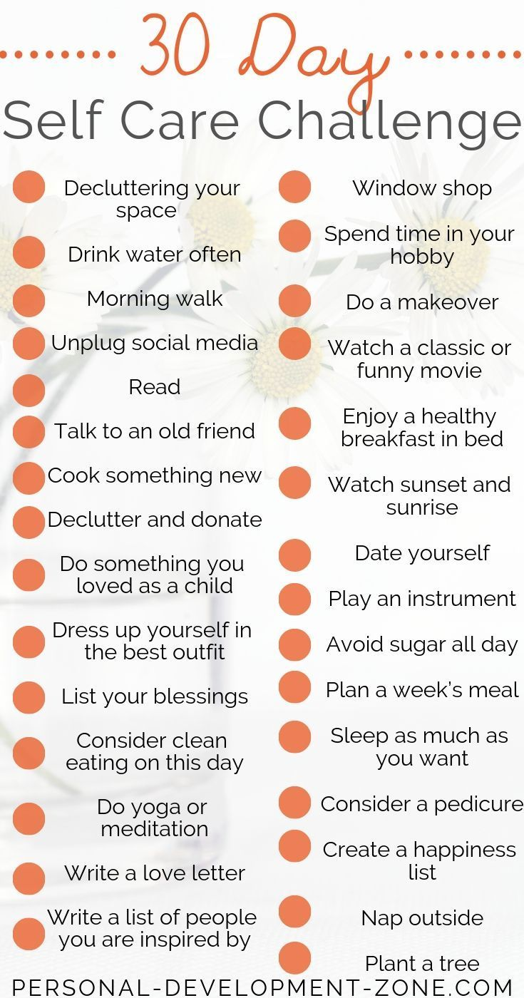 Incredible 30-Day Self-Care Challenge Ideas   2021 Update