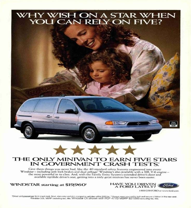 Ford Windstar Advertisement In April 1998 National Geographic