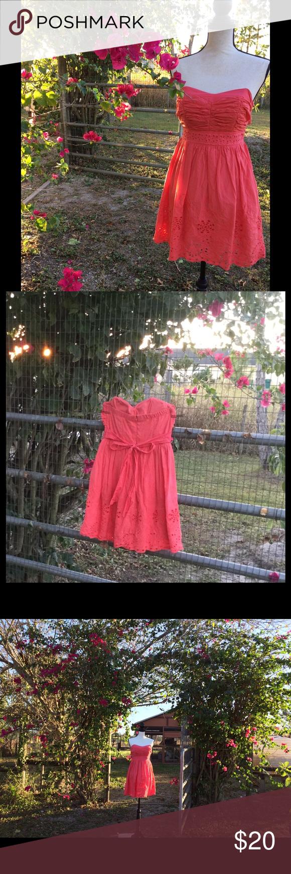 Flash salemy michelle coral strapless dress orphan strapless