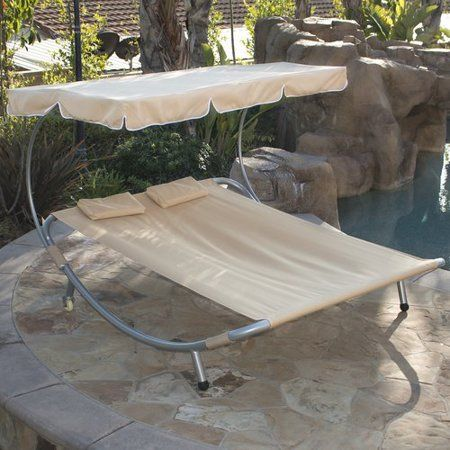 Belleze Swimming Pool Double Hammock Bed Sun Lounger Chaise Lounge