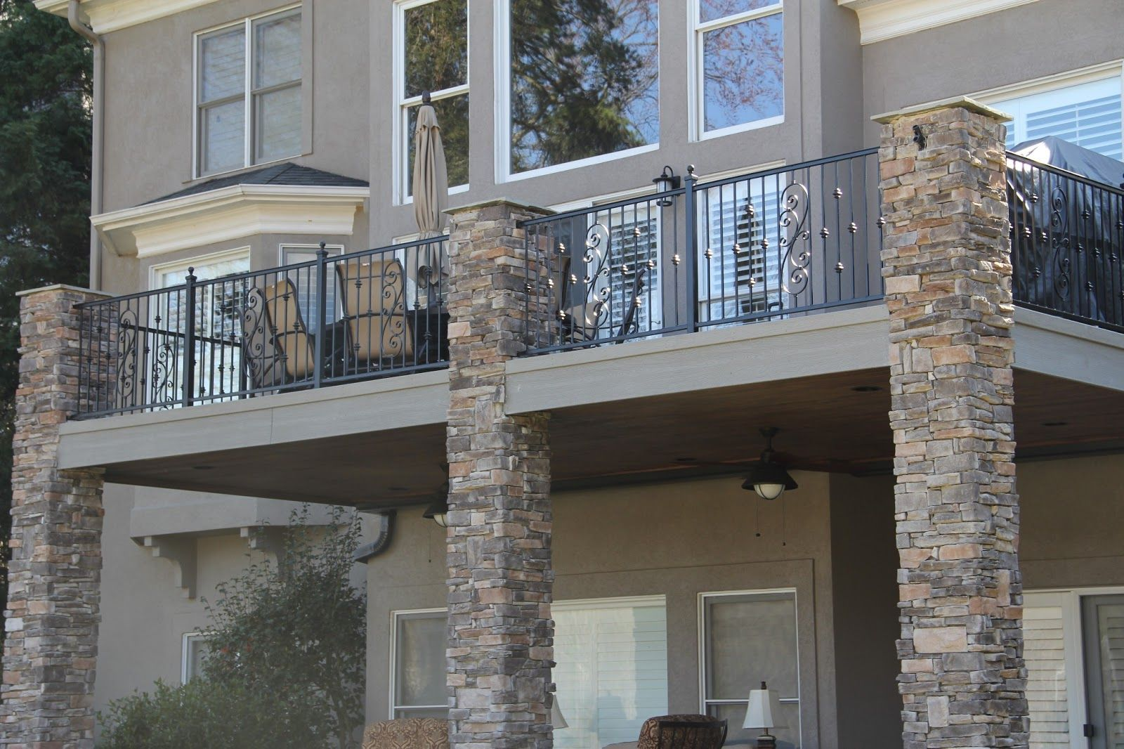 your home can look amazing when you add some wrought iron to it balcony railing designfence - Wall Railings Designs