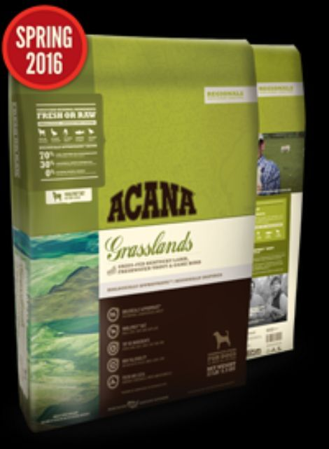 Holistic Dry Dog Food Acana Grasslands 13lb Grain Free Dog Food