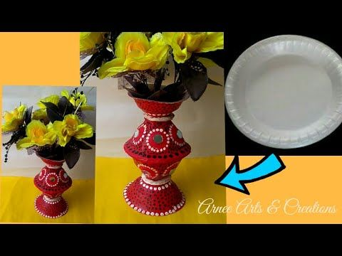 Diy Flower Vase Made With Disposable Plastic Glass Crafts Using