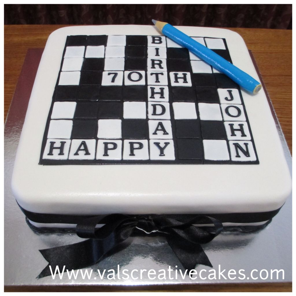 wedding cake layer crossword puzzle cake for a crossword fan birthday cake gallery 23068