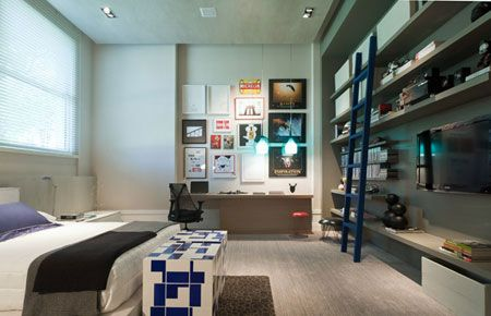 Dormit rio masculino bedrooms home office pinterest - Dormitorio masculino ...