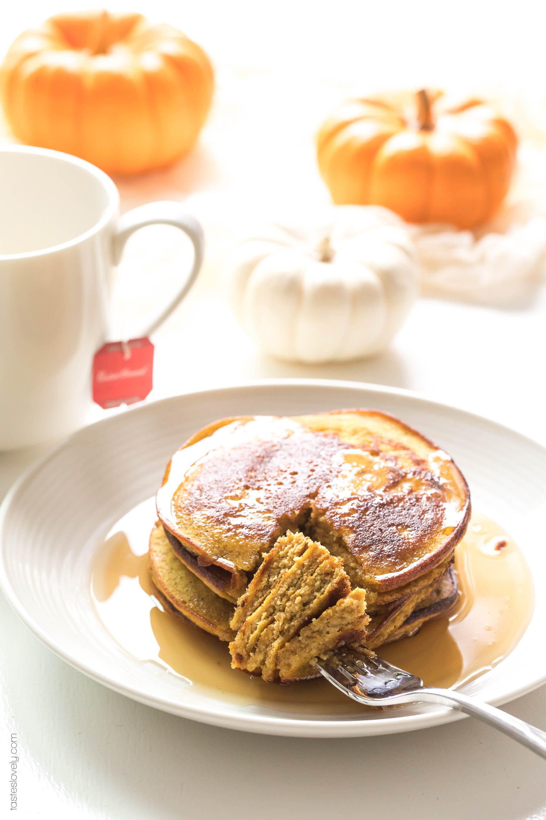 Paleo Pumpkin Pancakes Made With Almond Flour And Coconut Flour