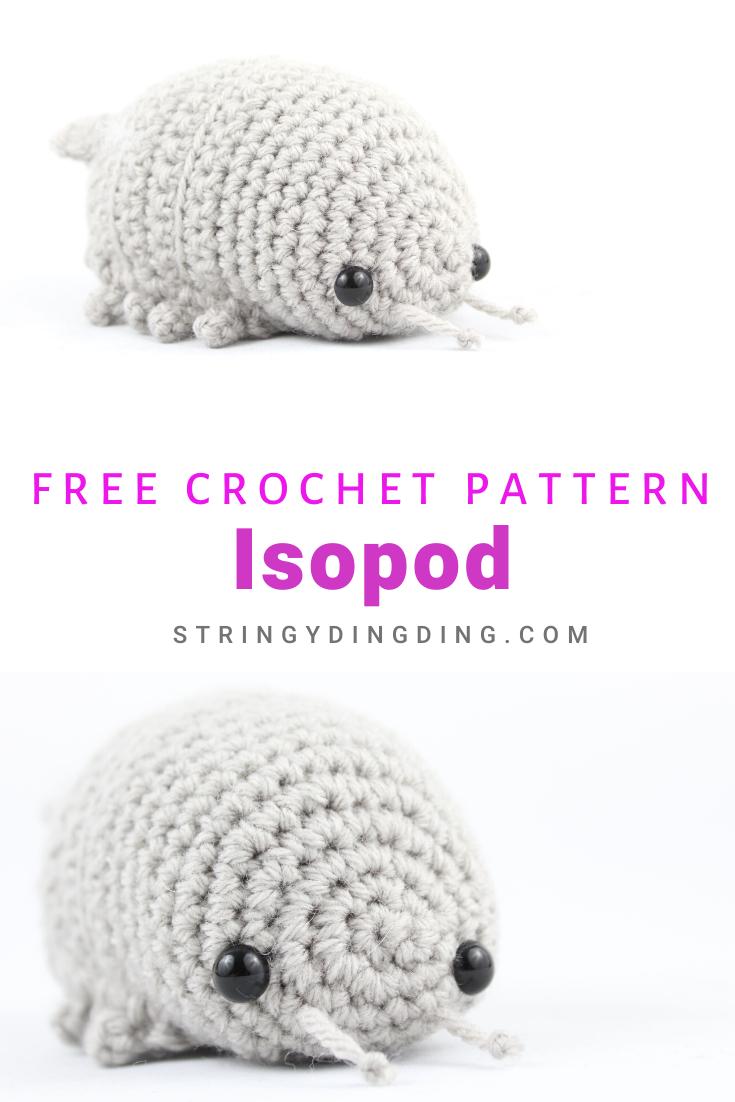 Free Isopod Amigurumi Crochet Pattern