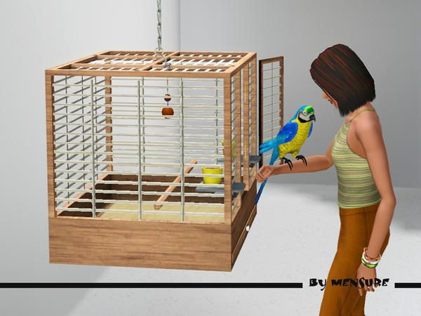 Mensure S Cottage Garden Bird Cage Sims 4 Pets Sims Pets Sims Baby
