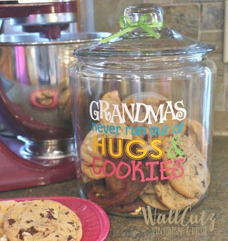 Grandmas Hugs And Cookies Cookie Jar Vinyl Decal