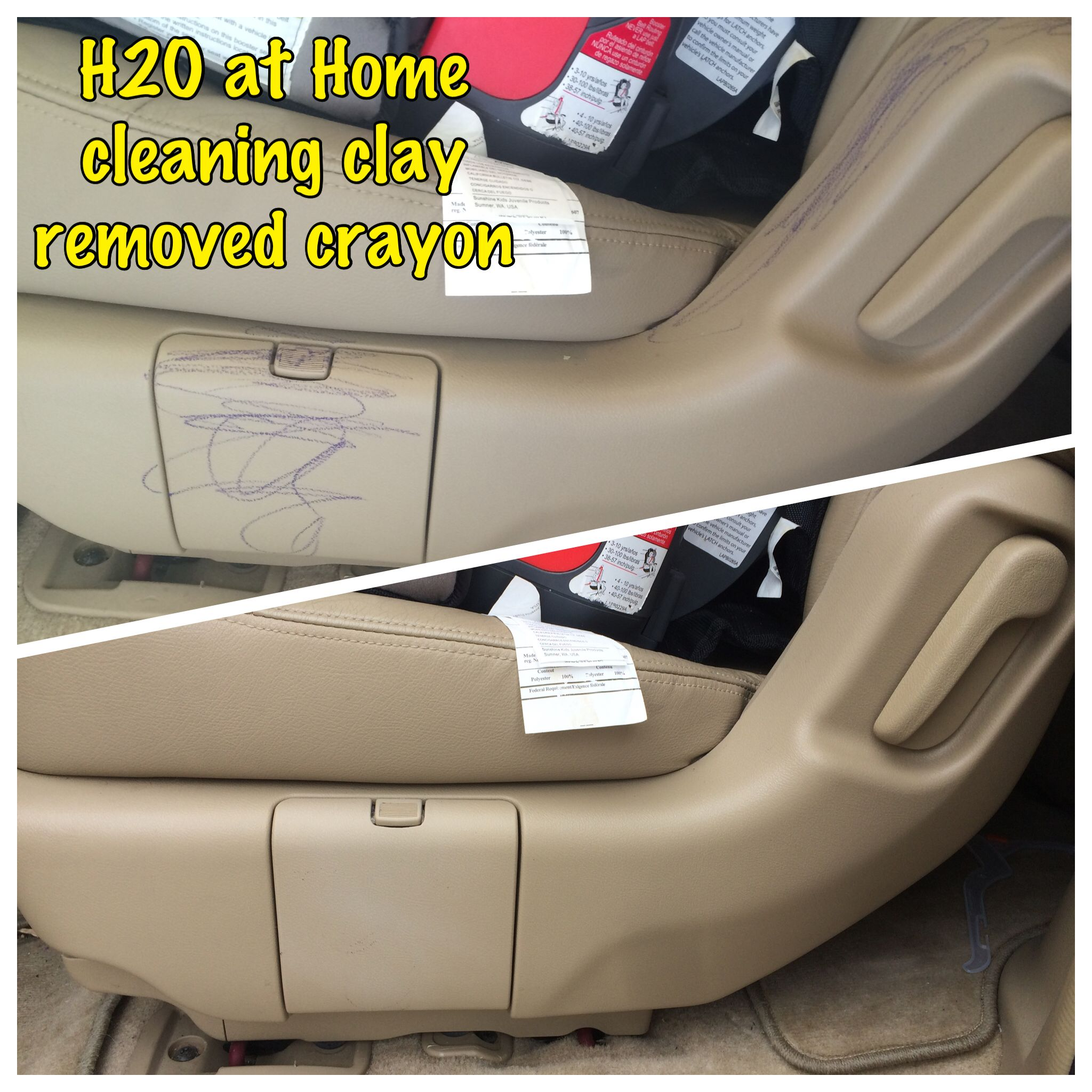 H2O at Home cleaning clay great inside your car too! www