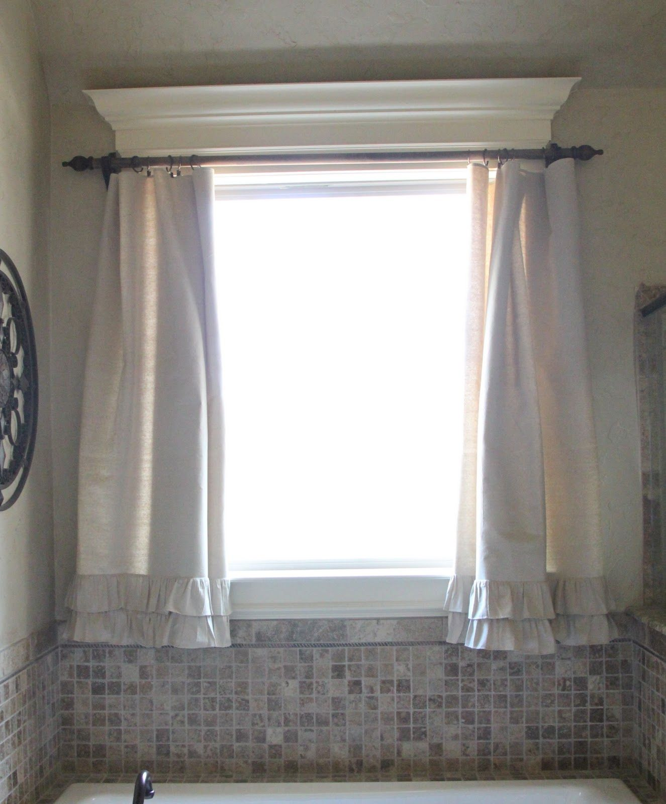 Curtains - made with a cheap Drop Cloth  - never would have thought of that!