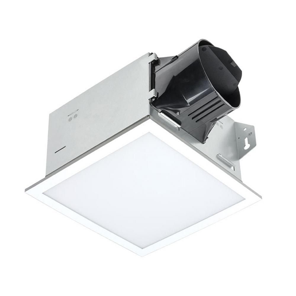 Delta Breez 100 Cfm Integrity Bathroom Exhaust Fan With Edge Lit Dimmable Led Light Itg100eled Dimmable Led Lights Bathroom Exhaust Fan Contemporary Bathroom Lighting