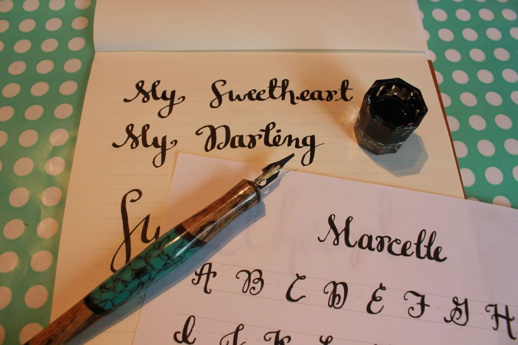 Learn modern calligraphy with this free printable guide and video