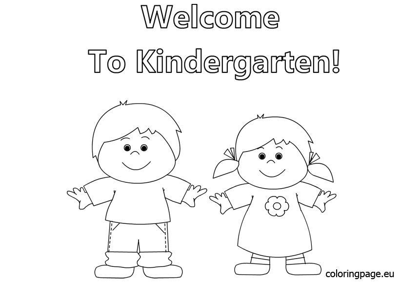 Welcome To Kindergarten Coloring Regresso A Escola Ideias Giras